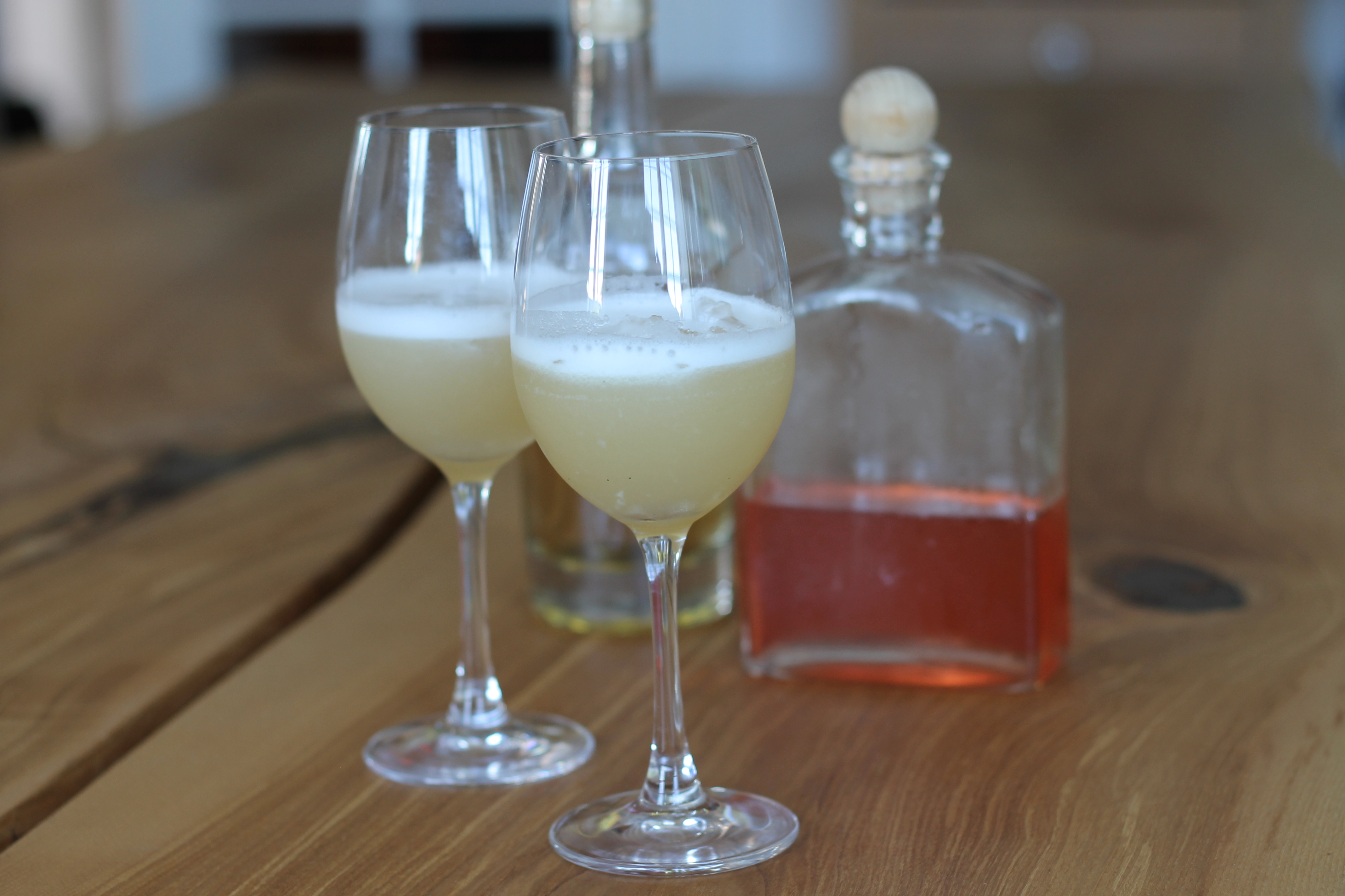 Rabarber-whisky sour